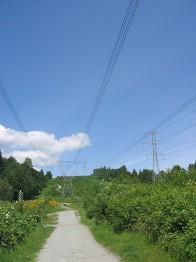 линия электропередачи в городе Коквитлам, Британская Колумбия
