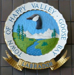 Герб Канадского города Happy Valley–Goose Bay в провинции Ньюфаундленд и Лабрадор