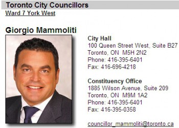 Джорджио Маммолити, кандидат на пост мэра Торонто