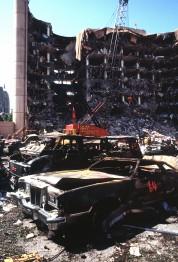 Разрушенное федеральное здание имени Альфреда Марра в Оклахома-Сити