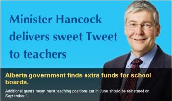Министр образования Альберты Дэн Хэнкок