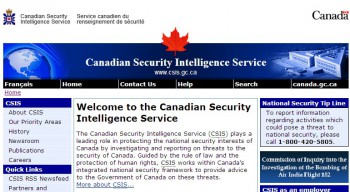 Canadian Security Intelligence Service CSIS
