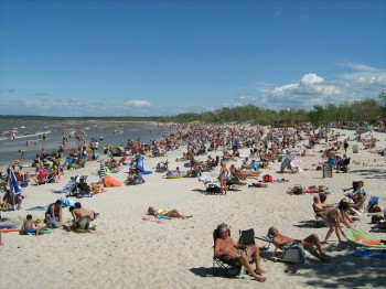Озеро Виннипег пляж Гранд Бич Lake Winnipeg Grand Beach