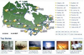 фотографии Канады, погода Канады, лесные пожары, град, проливные дожди