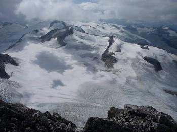 Ледник Пембертон оползень Британская Колумбия