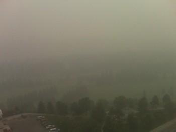 лесной пожар смог дым Эдмонтон