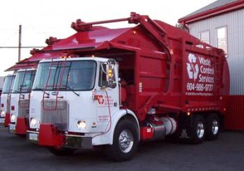 Ванкувер бомж мусоровоз Waste Control Service
