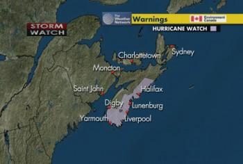 Ураган Эрл, Нью-Брансуика, Ньюфаундленда и Острава Принца Эдуарда, Атлантическая Канада
