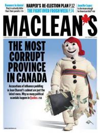 журнал Maclean's Квеебек самая коррумпированяа провинция Канады