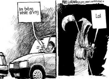 текстовые сообщения sms за рулём - убивают