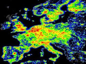 Карта потенциальной угрозы террорестических атак в Европе