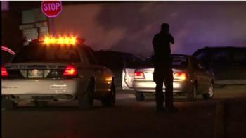 Полиция Виннипега проводит задержание.