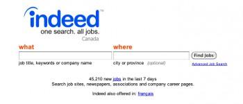 indeed.com самый удобный сайт для поиска работы в Канаде