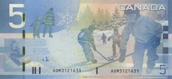 Банкнота пять канадских долларов