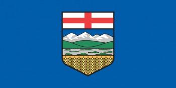 Флаг провинции Альберта Канада