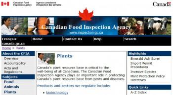 Канадская инспекция пищевых продуктов (CFIA)