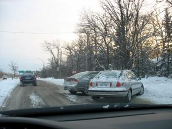 Виннипег зима снег дорога авария