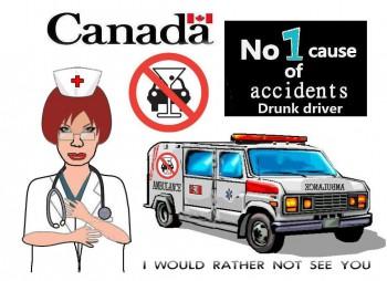 Канада вождение в нетрезвом пьяном виде за рулём управление автомобилем
