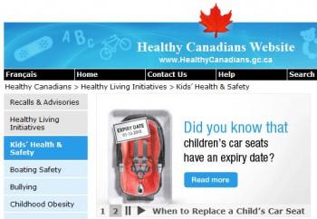 информация касающаяся здоровья и безопасности детей в Канаде