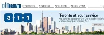 Торонто 311 вывоз мусора сервис