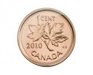 один цент, канадский цент, пени