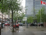 Виннипег, Манитоба - дождь в даунтаун