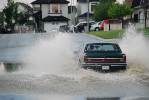 дождь в Калгари